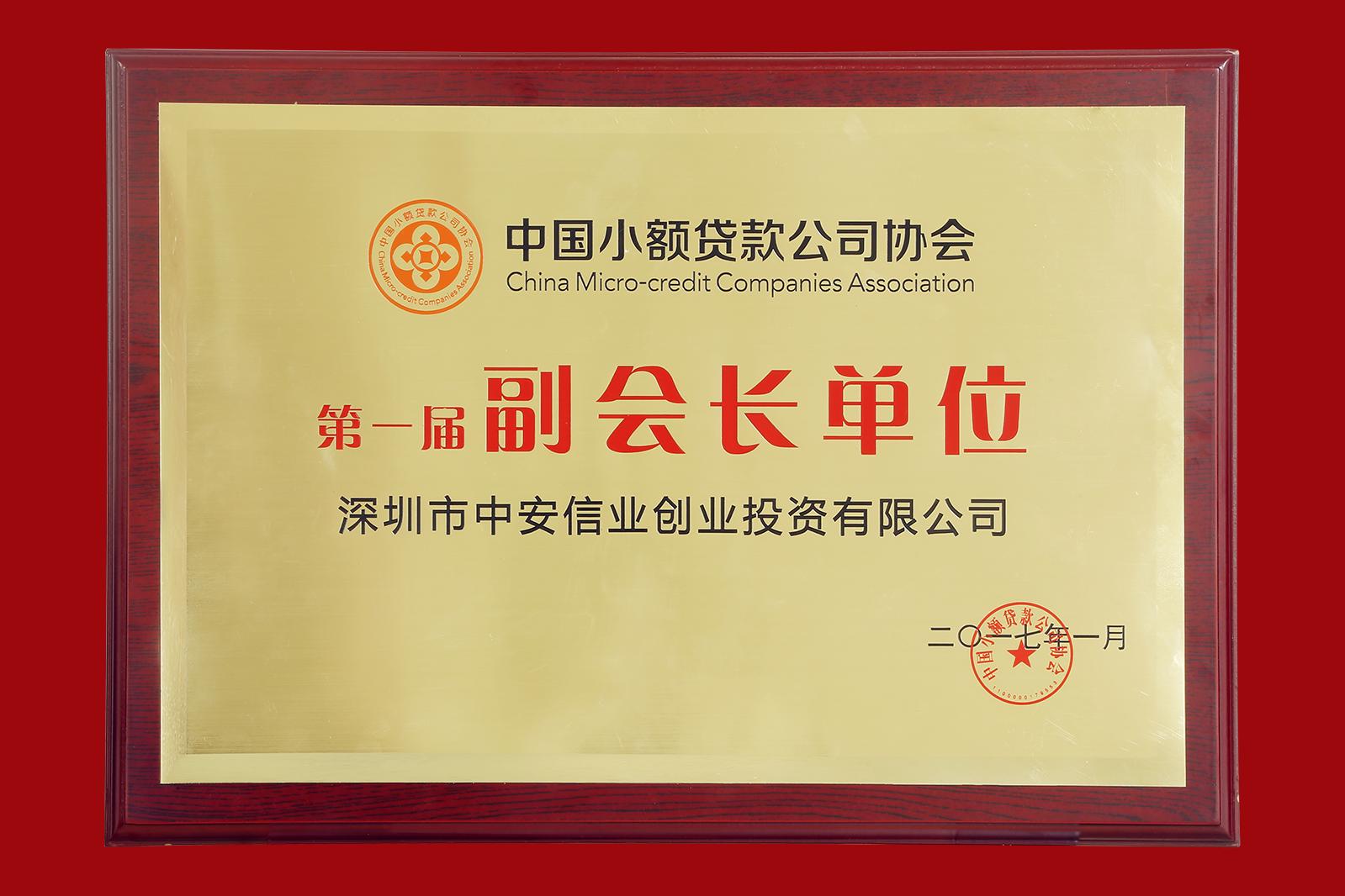 中安信业当选中国小额贷款公司协会副会长单位